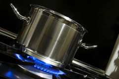 Pan and burner Royalty Free Stock Images