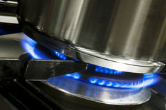 Pan and burner Royalty Free Stock Photos