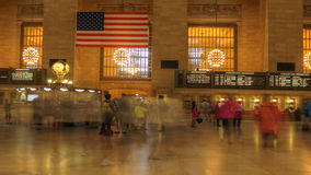 Pan of Busy Grand Central Station in Manhattan stock footage