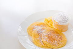 Pan cake with ice cream Stock Images