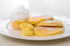Pan cake with ice cream Royalty Free Stock Photography