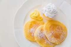 Pan cake with ice cream Royalty Free Stock Image