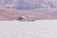 Pan Camera Ship sailing at Mae Ngad dam in Maetaeng Chiangmai Thailand Royalty Free Stock Image