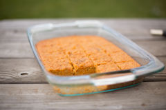 Pan of carrot cake royalty free stock photo