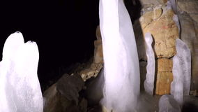 Pan of a cave inside. Hd stock video