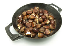 Pan with chestnuts Royalty Free Stock Photo
