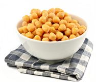 Pan of chickpeas Stock Image