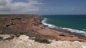 Pan Coastline Kalbarri, Austrália Ocidental filme