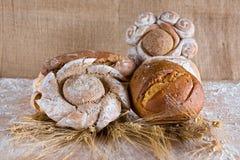 Pan cocido con trigo Imagen de archivo libre de regalías