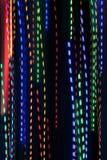 Pan Of Colorful Holiday Lights creeert Elektrisch Regenpatroon royalty-vrije stock afbeelding