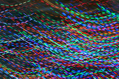 Pan Of Colorful Holiday Lights fait le modèle électrique abstrait Photographie stock libre de droits
