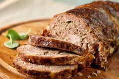 Pan con carne Fotografía de archivo libre de regalías