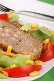 Pan con carne Imagen de archivo