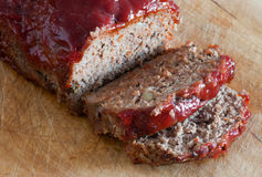 Pan con carne Fotos de archivo libres de regalías