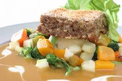 Pan con carne Fotografía de archivo