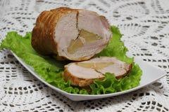 Pan con carne cocido Imagenes de archivo