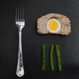 Pan con carne con el huevo Fotos de archivo