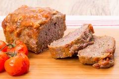 Pan con carne de la carne de vaca Fotos de archivo libres de regalías