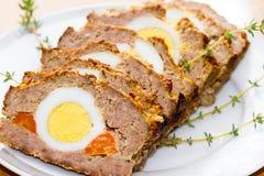 Pan con carne de Pascua Imagen de archivo libre de regalías