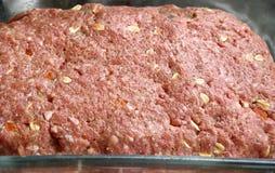 Pan con carne hecho de la carne picada magra con la avena y las especias Imagen de archivo