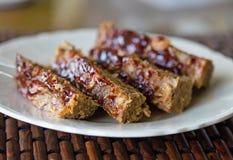 Pan con carne hecho en casa Fotos de archivo libres de regalías