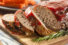 Pan con carne hecho en casa de la carne picada Foto de archivo libre de regalías
