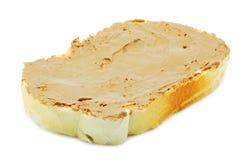 Pan con crema del chocolate foto de archivo