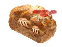 Pan con el hongo Fotos de archivo libres de regalías