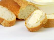 Pan con la margarina Imagen de archivo libre de regalías