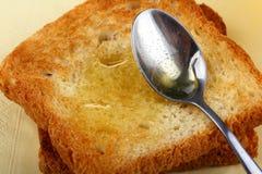 Pan con la miel Fotografía de archivo