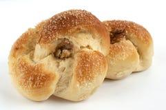Pan con la nuez fotografía de archivo libre de regalías