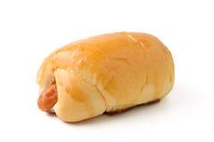 Pan con la salchicha Foto de archivo libre de regalías