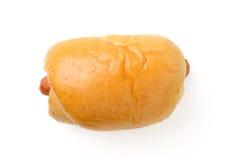 Pan con la salchicha Imagen de archivo libre de regalías