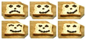 Pan con los granos de café Fotografía de archivo libre de regalías