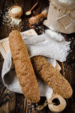 Pan con los gérmenes de sésamo Fotos de archivo libres de regalías