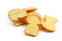 Pan con mantequilla Imágenes de archivo libres de regalías