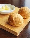 Pan con mantequilla Foto de archivo libre de regalías