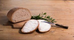 Pan con mantequilla fotografía de archivo