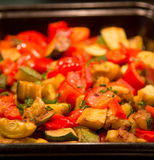 Pan of Cooked Vegetables Royalty Free Stock Images