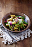 Pan-Cooked Vegetables on a Plate Royalty Free Stock Photos