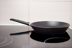 Pan on the cooker Royalty Free Stock Images