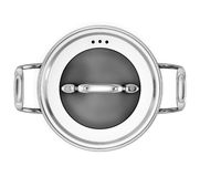 Pan for cooking on a white background the top view Royalty Free Stock Photos