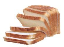 Pan cortado del bocadillo aislado Fotos de archivo libres de regalías