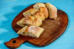 Pan cortado fresco detalladamente Foto de archivo