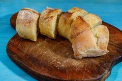 Pan cortado fresco detalladamente Imagen de archivo libre de regalías