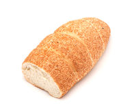 Pan cortado por la mitad Foto de archivo libre de regalías