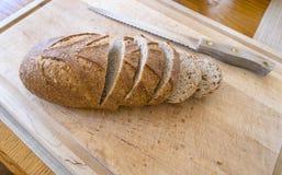 Pan crujiente del trigo integral Fotografía de archivo libre de regalías