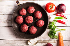Pan of the cutlets Stock Photos
