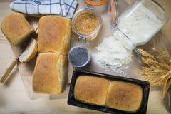 Pan de pan amargo hecho en casa con las semillas Foto de archivo libre de regalías