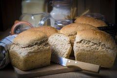 Pan de pan amargo hecho en casa con las semillas Imagen de archivo